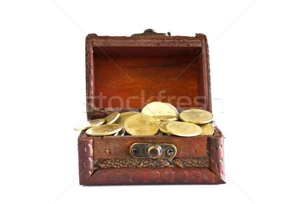 Stok fotoğraf: Altın · madeni · yalıtılmış · beyaz · arka · plan · altın