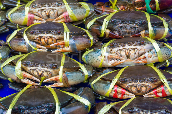 Stock photo: Fresh crabs on sale