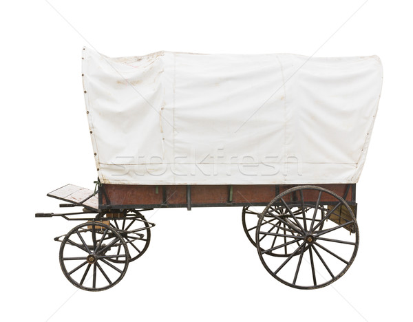 Covered wagon on white Stock photo © stoonn