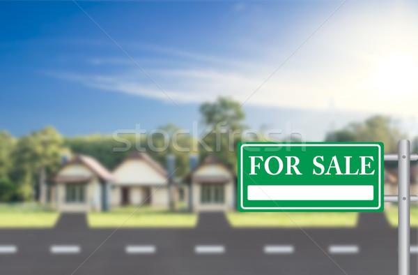 Home vendita verde segno costruzione finanziare Foto d'archivio © stoonn