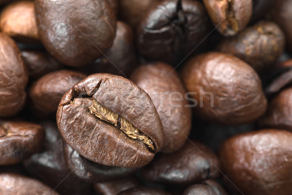 Roasted brown coffee beans Stock photo © stoonn