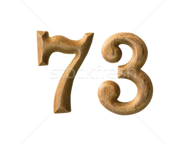 Wooden numeric 73 Stock photo © stoonn