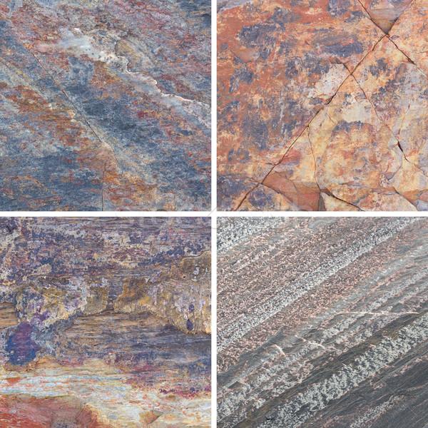 Texturas diferente pedra conjunto coleção parede Foto stock © stoonn