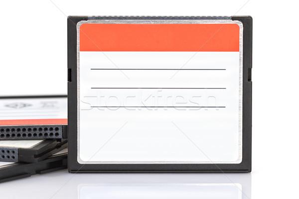 Kompakt villanás emlék kártya kártyák fehér Stock fotó © stoonn
