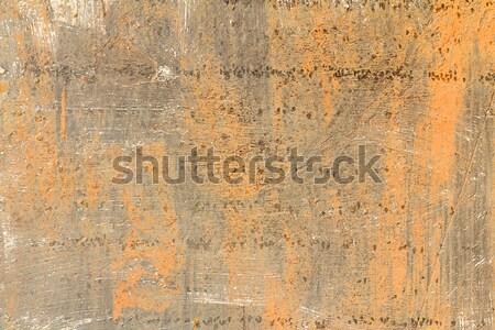 Pas doku Metal plaka eski metal yüzeye Stok fotoğraf © stoonn