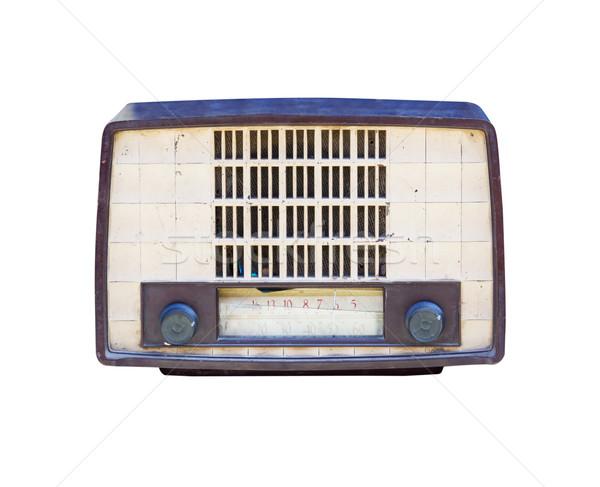 Old radio isolated on white background. Stock photo © stoonn