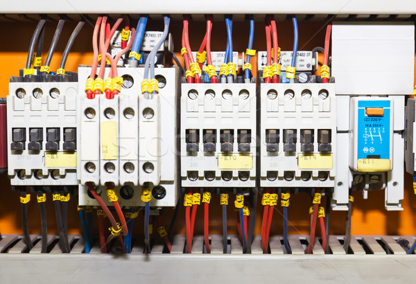 Control panel with circuit-breakers1 Stock photo © stoonn