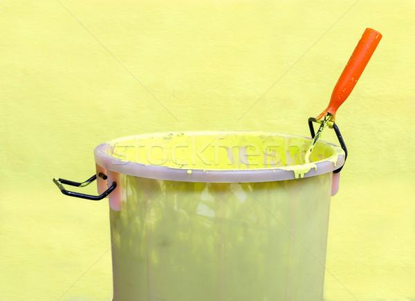Paint-roller and Paint bucket Stock photo © stoonn