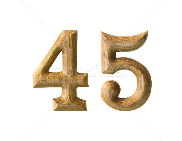 Wooden numeric 45 Stock photo © stoonn
