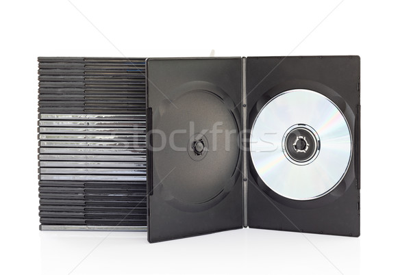 Dvd boxes with disc on white background Stock photo © stoonn