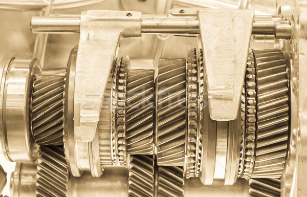 Cog Räder Zahnräder mechanische Metall Stock foto © stoonn