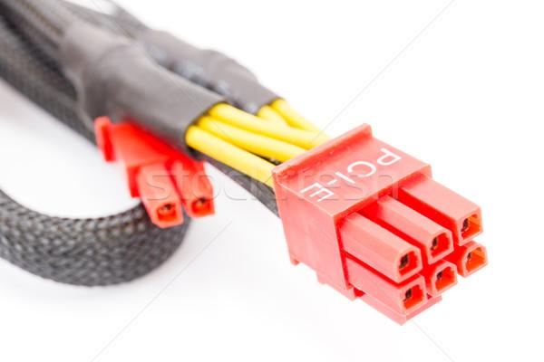 Close Up PCI-E cable video card Stock photo © stoonn