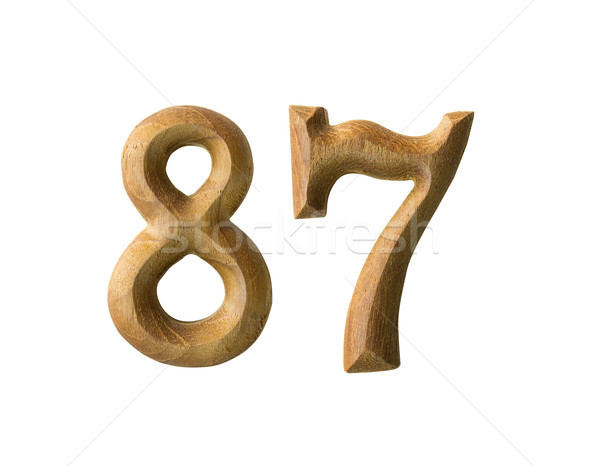 Wooden numeric 87 Stock photo © stoonn