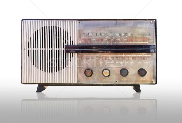 Stock photo: Vintage radio isolated