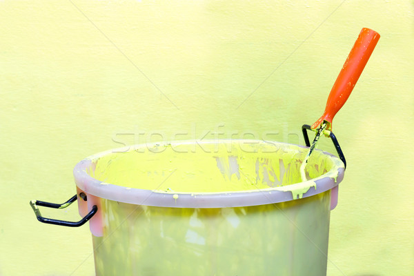 Secchio di vernice vernice verde costruzione arte spazio Foto d'archivio © stoonn