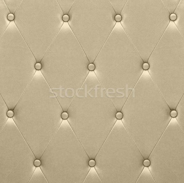 Luxurious golden leather  seat upholstery Stock photo © stoonn
