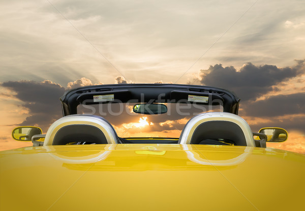 The yellow car with sunset  Stock photo © stoonn