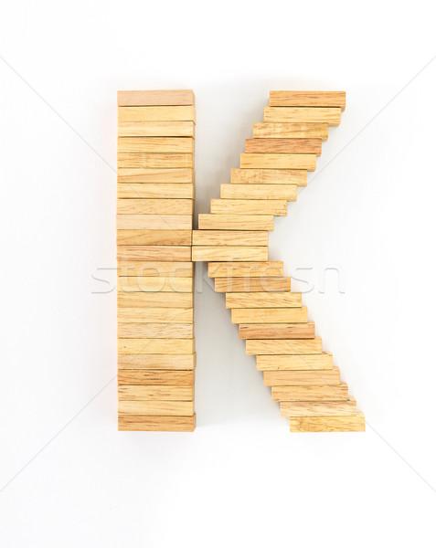 Fából készült dominó angol ábécé levelek fehér Stock fotó © stoonn
