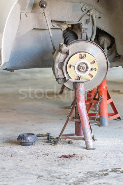 Front disk brake on car Stock photo © stoonn