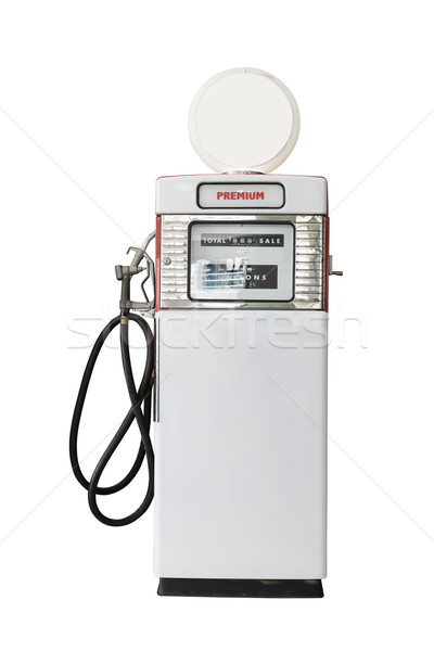 Vintage white fuel pump on white background Stock photo © stoonn