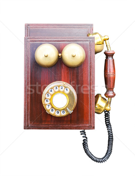 Antique wooden telephone Stock photo © stoonn