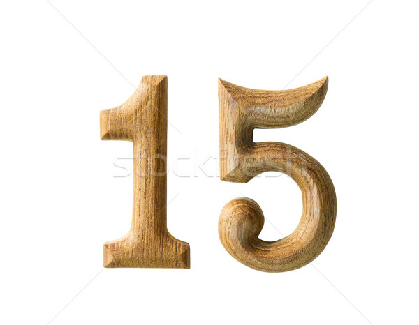 Wooden numeric 15 Stock photo © stoonn