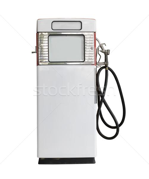 Klasszikus fehér benzinpumpa öreg benzin gázolaj Stock fotó © stoonn