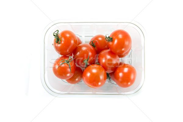 Tomates cerises magasin boîte photos alimentaire Photo stock © Stootsy