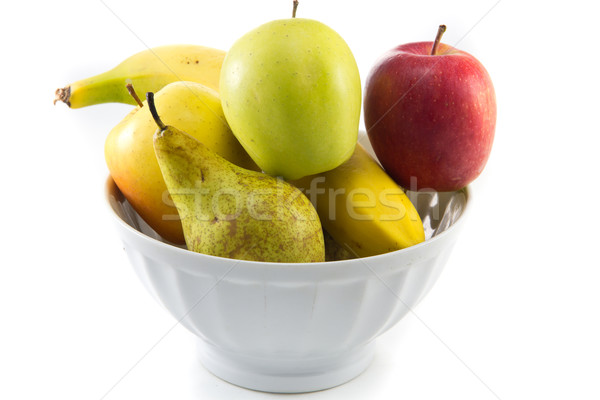 Bol fruits photos fruits blanche alimentaire Photo stock © Stootsy