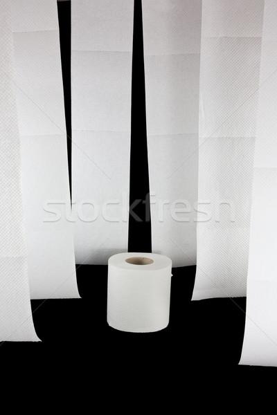 Impiccagione carta igienica uno rotolare foto acqua Foto d'archivio © Stootsy