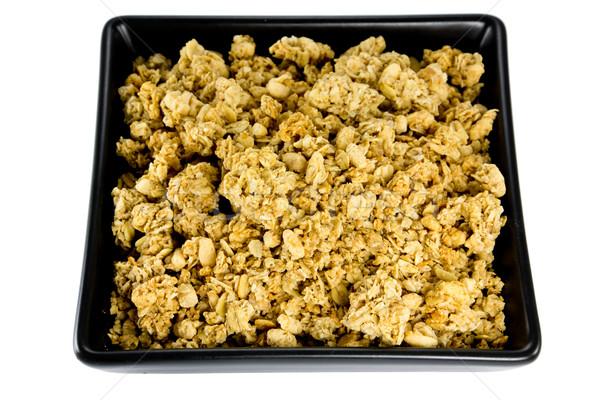 Bol photos noir croustillant déjeuner blanche Photo stock © Stootsy