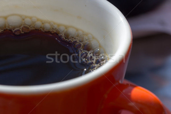 red mug of cofee Stock photo © Stootsy