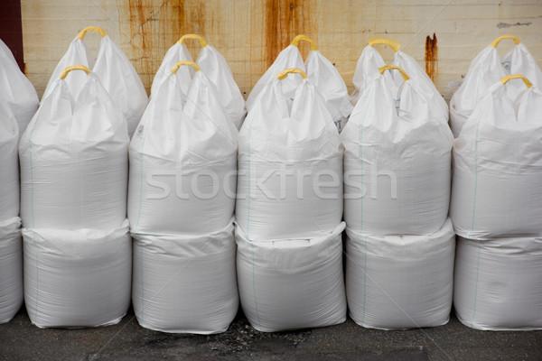 Grand sacs sel photos industrielle Photo stock © Stootsy