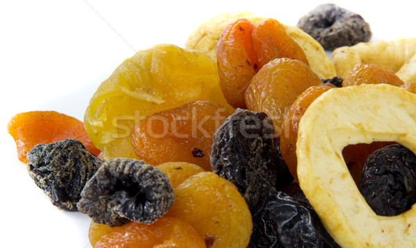 Séché fruits photos blanche santé Photo stock © Stootsy
