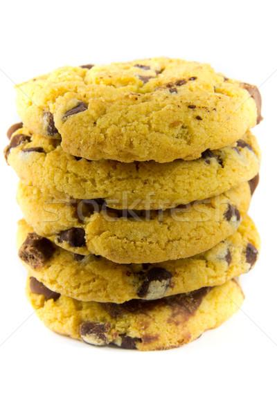 Chocolat cookies photos noir manger Photo stock © Stootsy