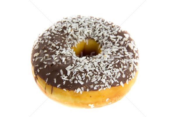 Chocolat donut photos blanche alimentaire Photo stock © Stootsy