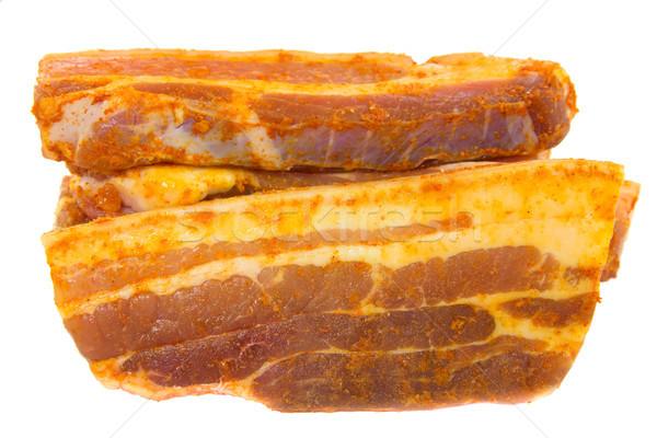 Tranches photos brut porc été viande Photo stock © Stootsy