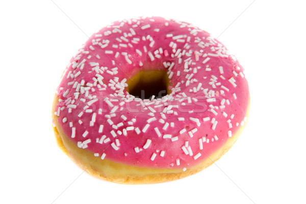 Fraise donut photos blanche alimentaire Photo stock © Stootsy