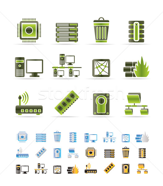 Bilgisayar web sitesi simgeler vektör renkler Stok fotoğraf © stoyanh