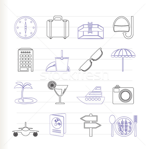 travel, trip and tourism icons Stock photo © stoyanh