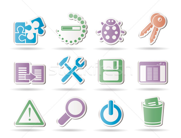 developer, programming and application icons Stock photo © stoyanh
