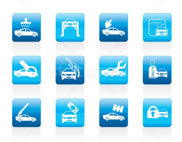 Voiture automobile Ouvrir la icône vecteur Photo stock © stoyanh
