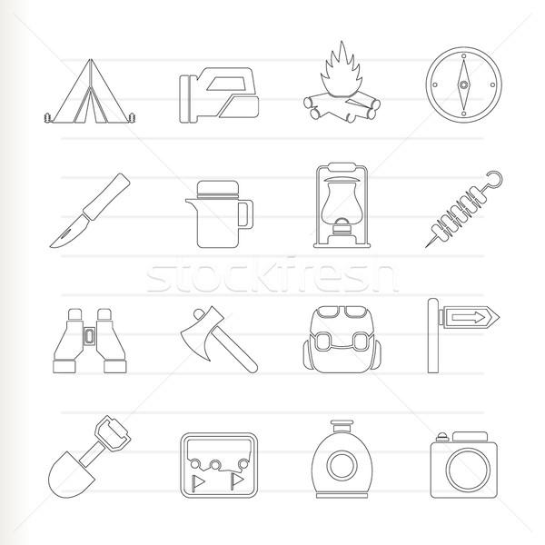 Zdjęcia stock: Turystyki · turystyka · ikona · wektora · żywności