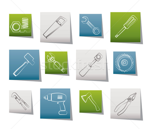 different kind of tools icons Stock photo © stoyanh