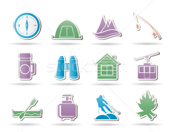 Stock photo: Travel, Tourism, vacation  and mountain objects