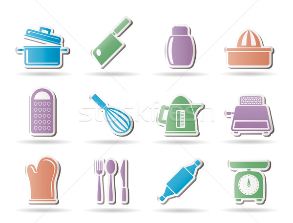 Kitchen and household Utensil Icons  Stock photo © stoyanh