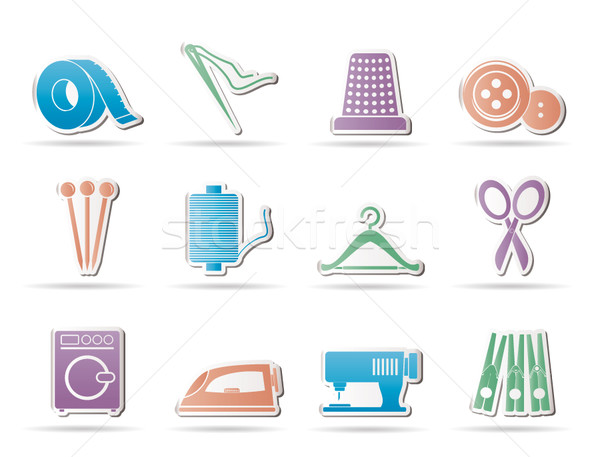 Textile objects and industry   icons  Stock photo © stoyanh