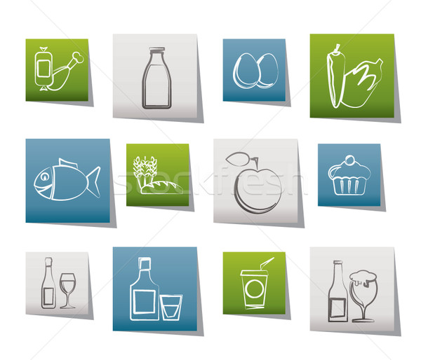 Food, drink and Aliments icons  Stock photo © stoyanh