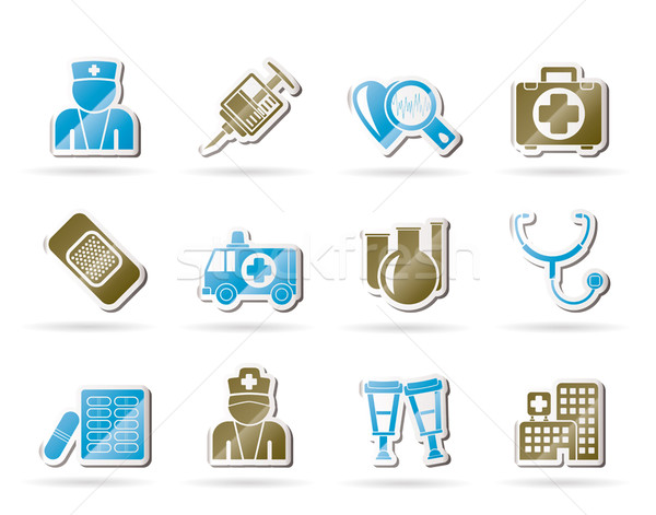 Medicine and healthcare icons  Stock photo © stoyanh