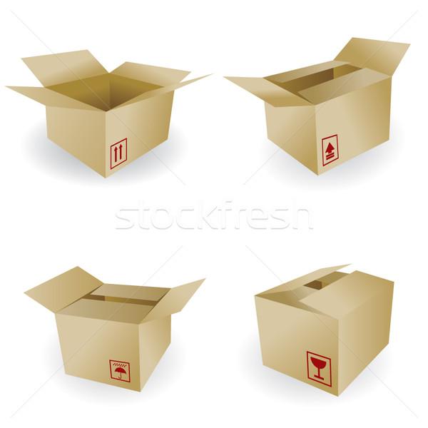 Stockfoto: Scheepvaart · vak · vector · icon · borden · business